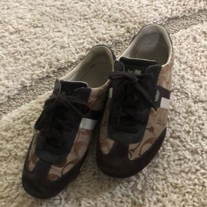 Coach sneakers, brown